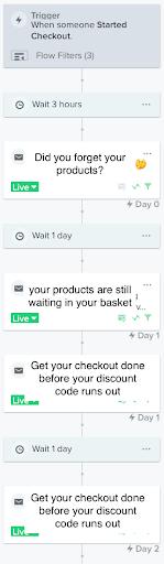 Marketing automation flow